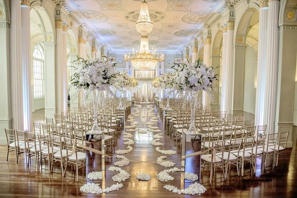 Gold and Silver Wedding Decor Beautiful White Silver & Gold Wedding at the Biltmore Ballrooms In atlanta Inside Weddings