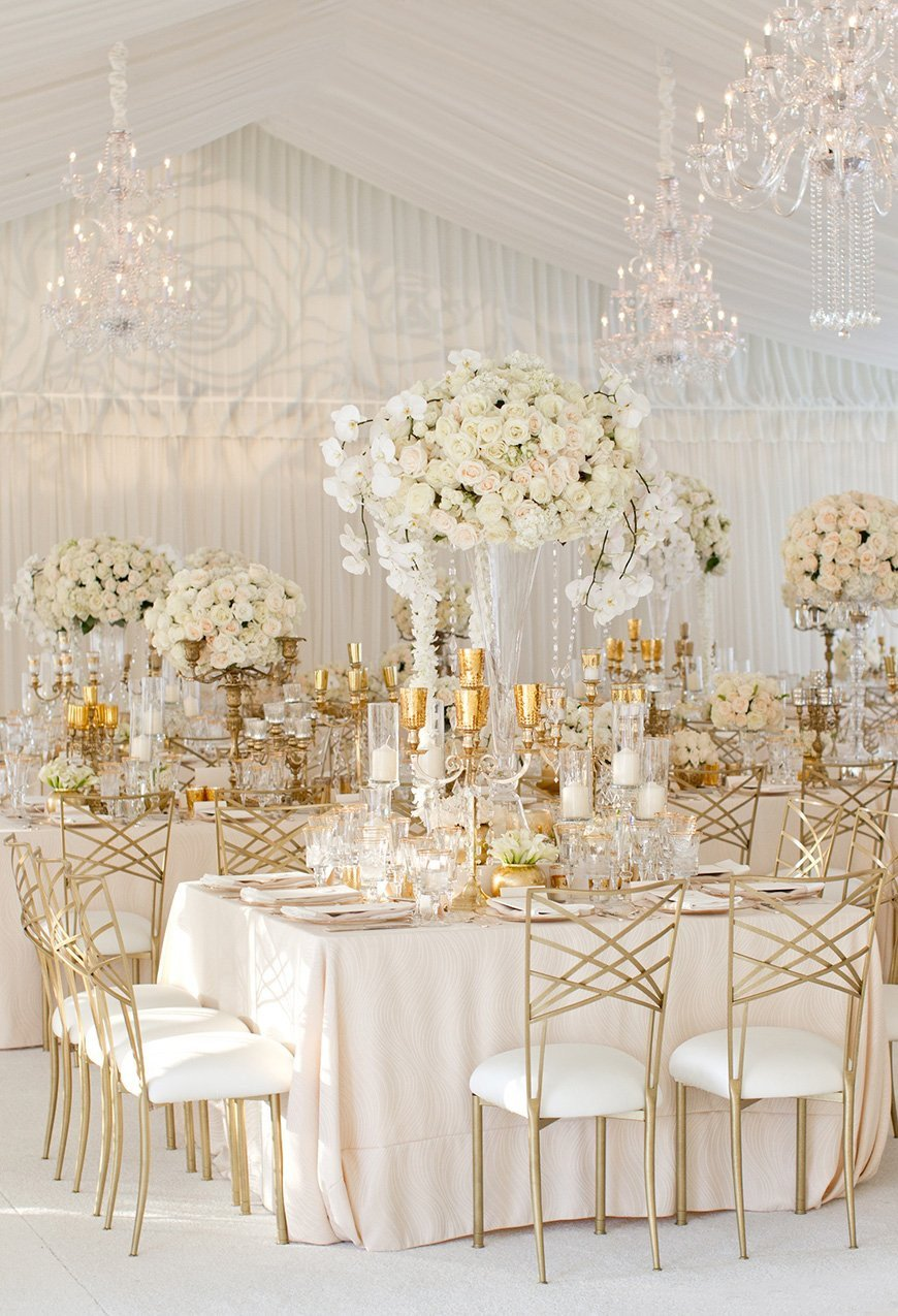 Gold and Silver Wedding Decor Beautiful White Wedding theme Wedding Ideas by Colour