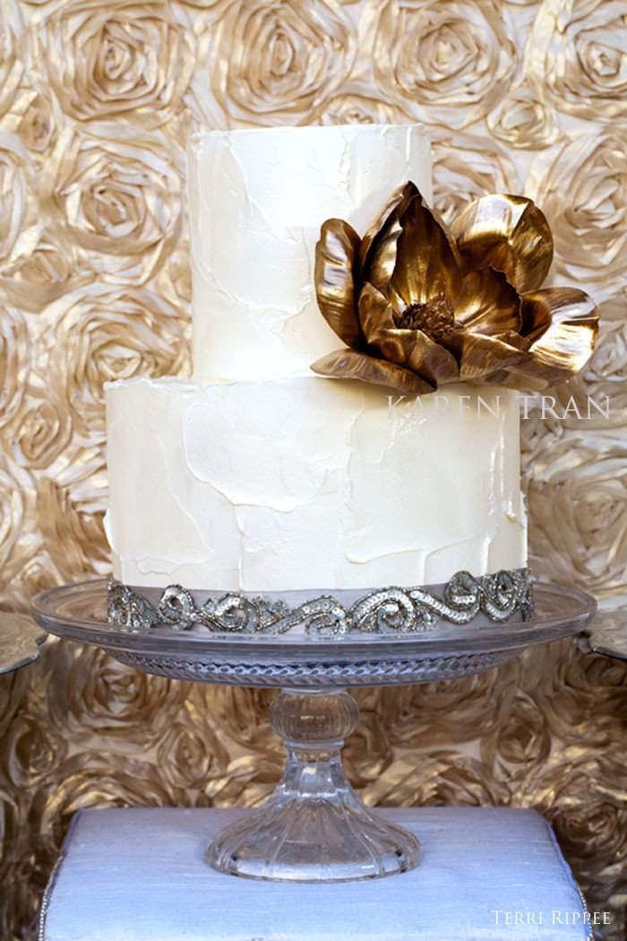 Gold and Silver Wedding Decor Elegant Exquisite Dessert Table Decor