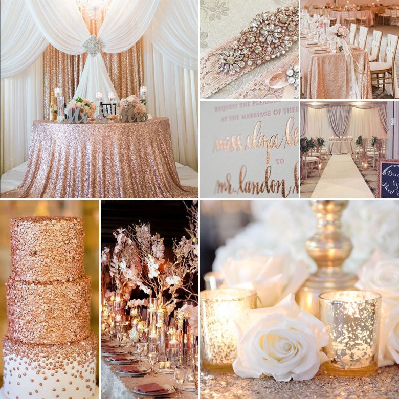 Gold and Silver Wedding Decor Elegant Rose Gold Silver and White Wedding