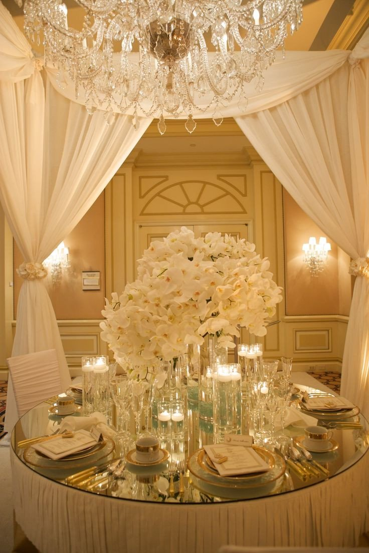 Gold and Silver Wedding Decor Inspirational White and Gold Luxurious Table Setting White Gold Pinterest
