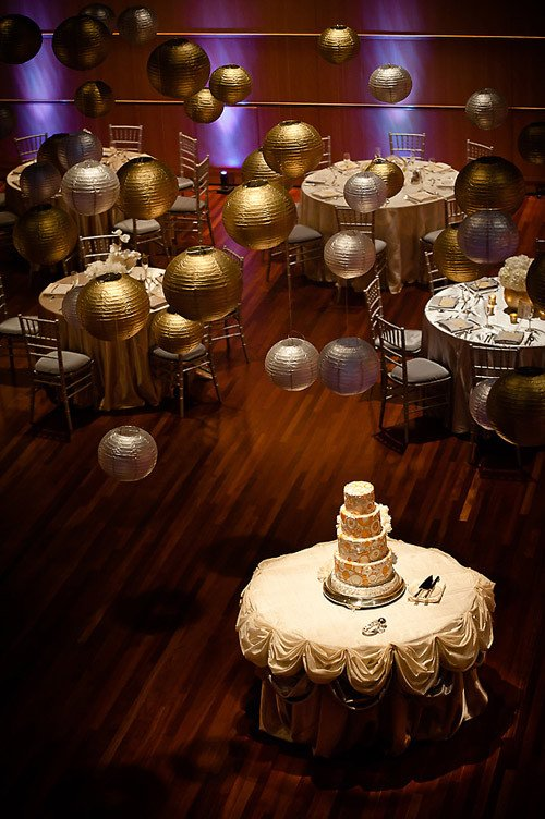 Gold and Silver Wedding Decor Lovely sophisticated Gold and Silver Wedding at Overture Center for the Arts