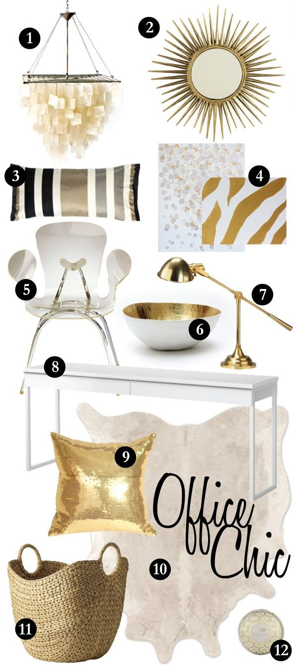 Gold and White Office Decor Awesome Fice Chic A White & Gold Affair My Home 2014