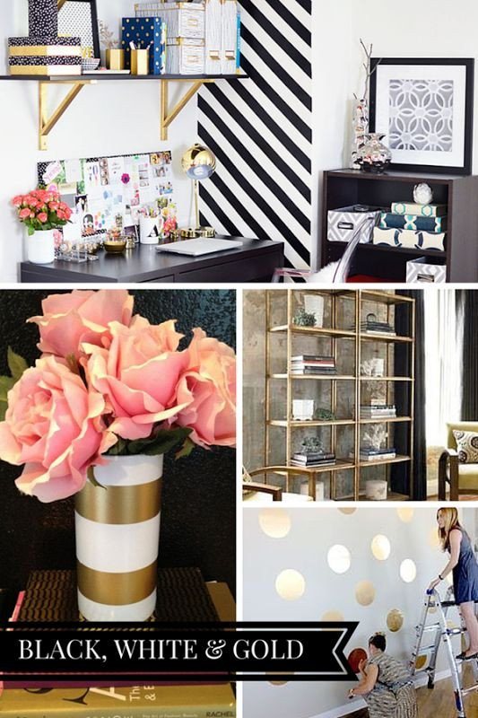 Gold and White Office Decor Beautiful Blog Fice Makeover Plans
