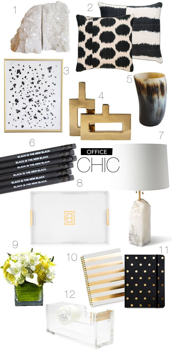 Gold and White Office Decor Best Of Love Everything About This Office Inspiration Board Black and White and Gold Office Chic