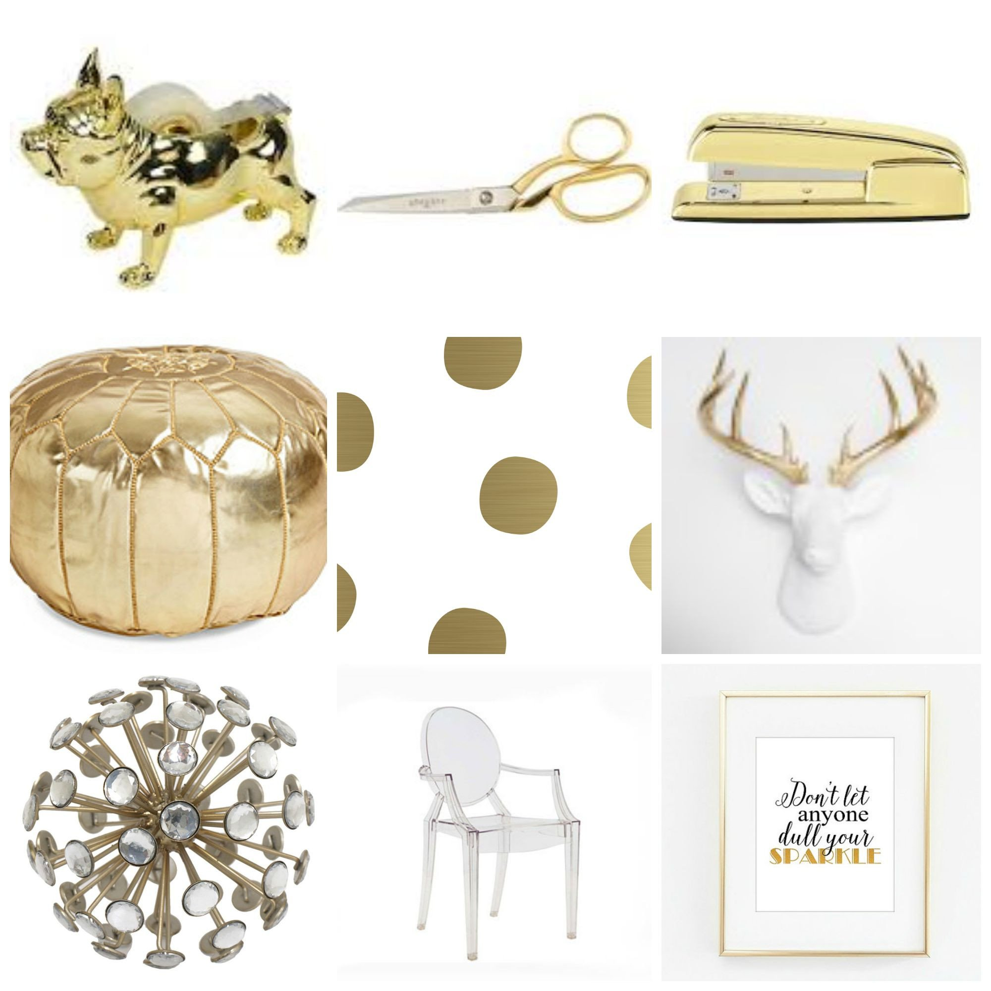 Gold and White Office Decor Fresh Gold Fice Décor for the Love Glitter