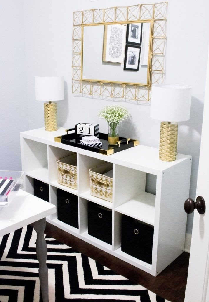 Gold and White Office Decor Inspirational Home Fice tour southern Made Blog