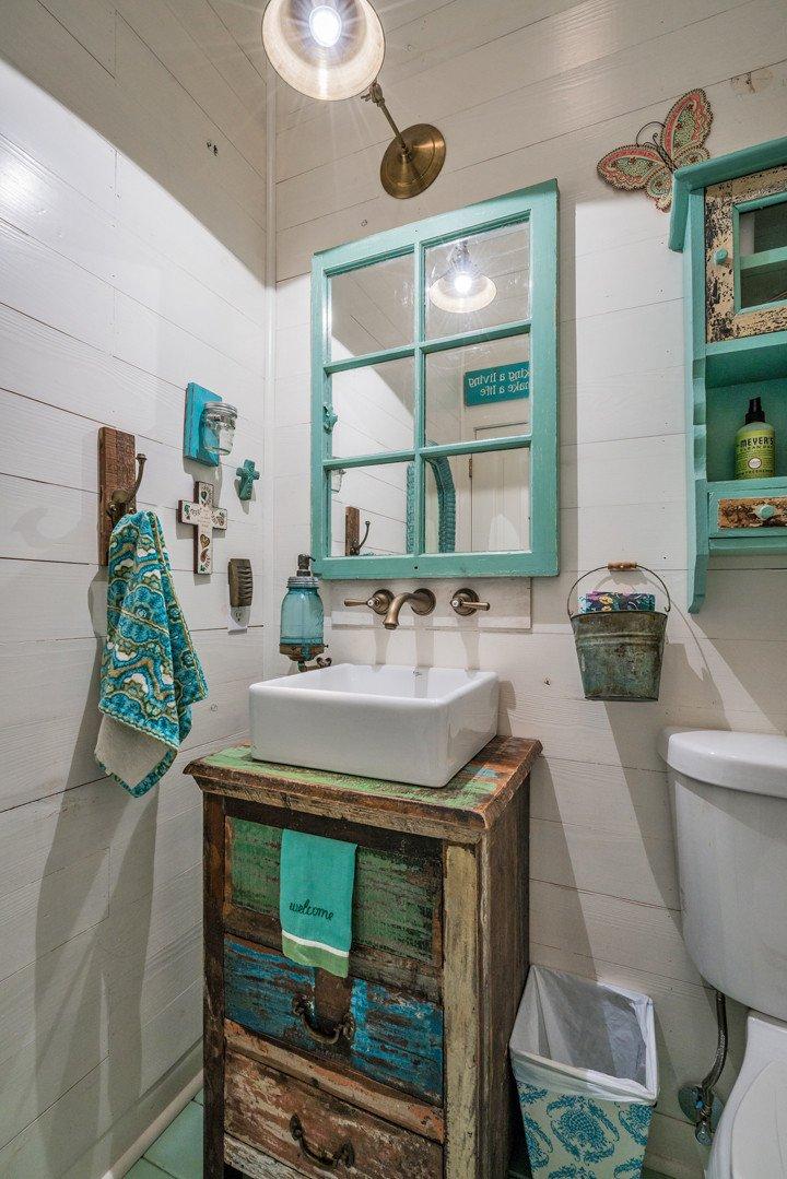 Gray and Turquoise Bathroom Decor Fresh Van Wicklen Design