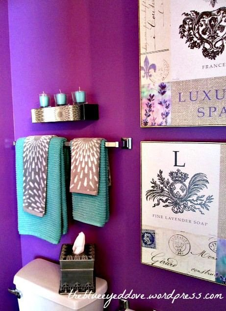 Gray and Turquoise Bathroom Decor New Purple Bathroom Decorating with Purple Turquoise and Gray A Great Color Bination