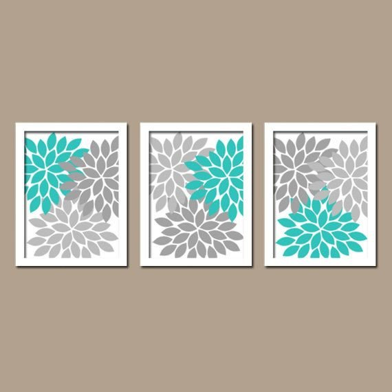 Gray and Turquoise Bathroom Decor Unique Turquoise Gray Wall Art Bedroom Canvas or Prints Bathroom Artwork Bedroom