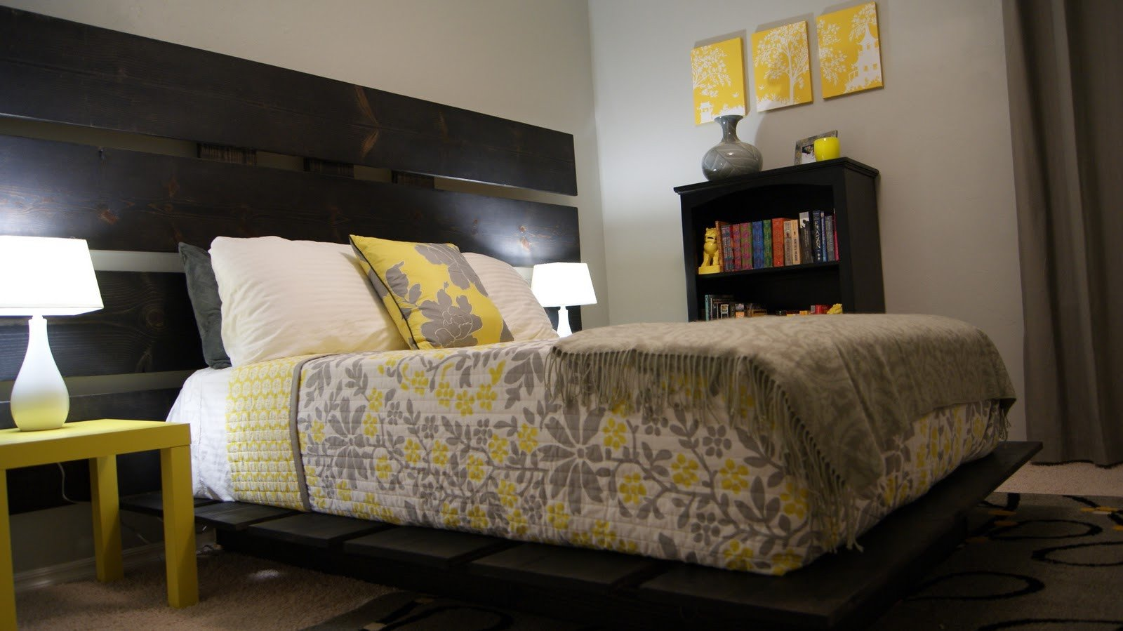 Gray and Yellow Bedroom Decor Inspirational Living Small Yellow and Gray Bedroom Update
