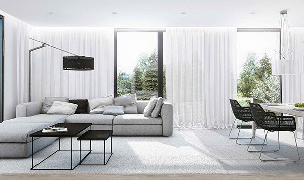 Gray Contemporary Living Room Beautiful 15 Modern White and Gray Living Room Ideas