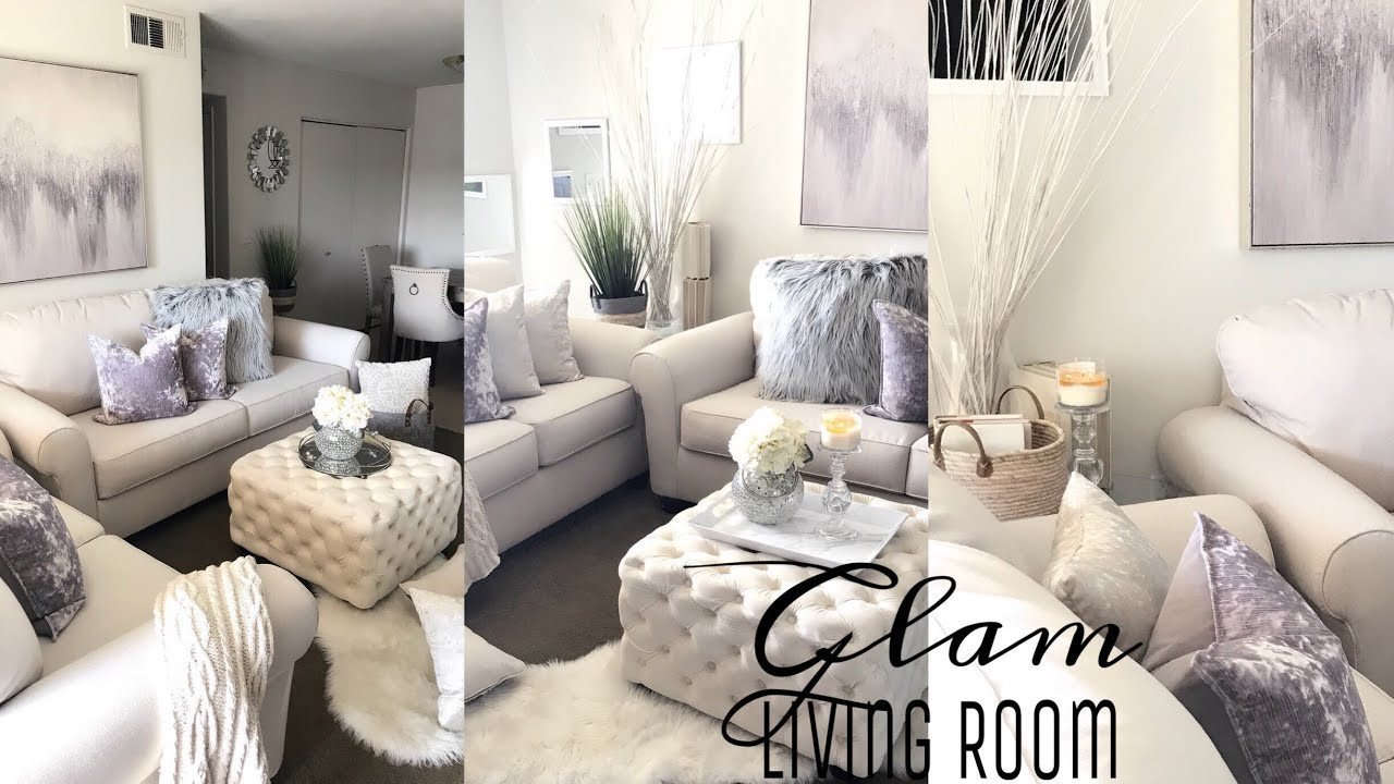Gray Living Room Decor Ideas Awesome Glam Living Room Decorating Ideas