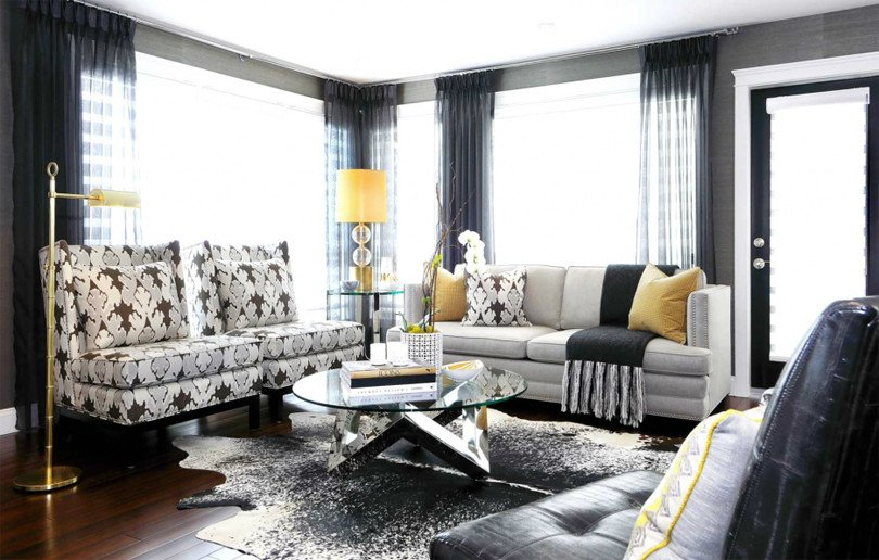 Gray Living Room Decor Ideas Beautiful Black is Back – Emerald Interiors Blog