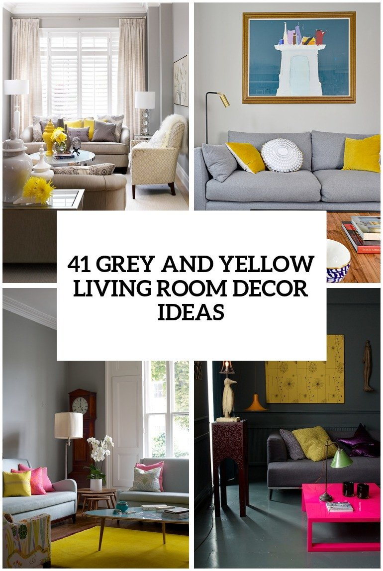 Gray Living Room Decor Ideas Luxury 29 Stylish Grey and Yellow Living Room Décor Ideas Digsdigs