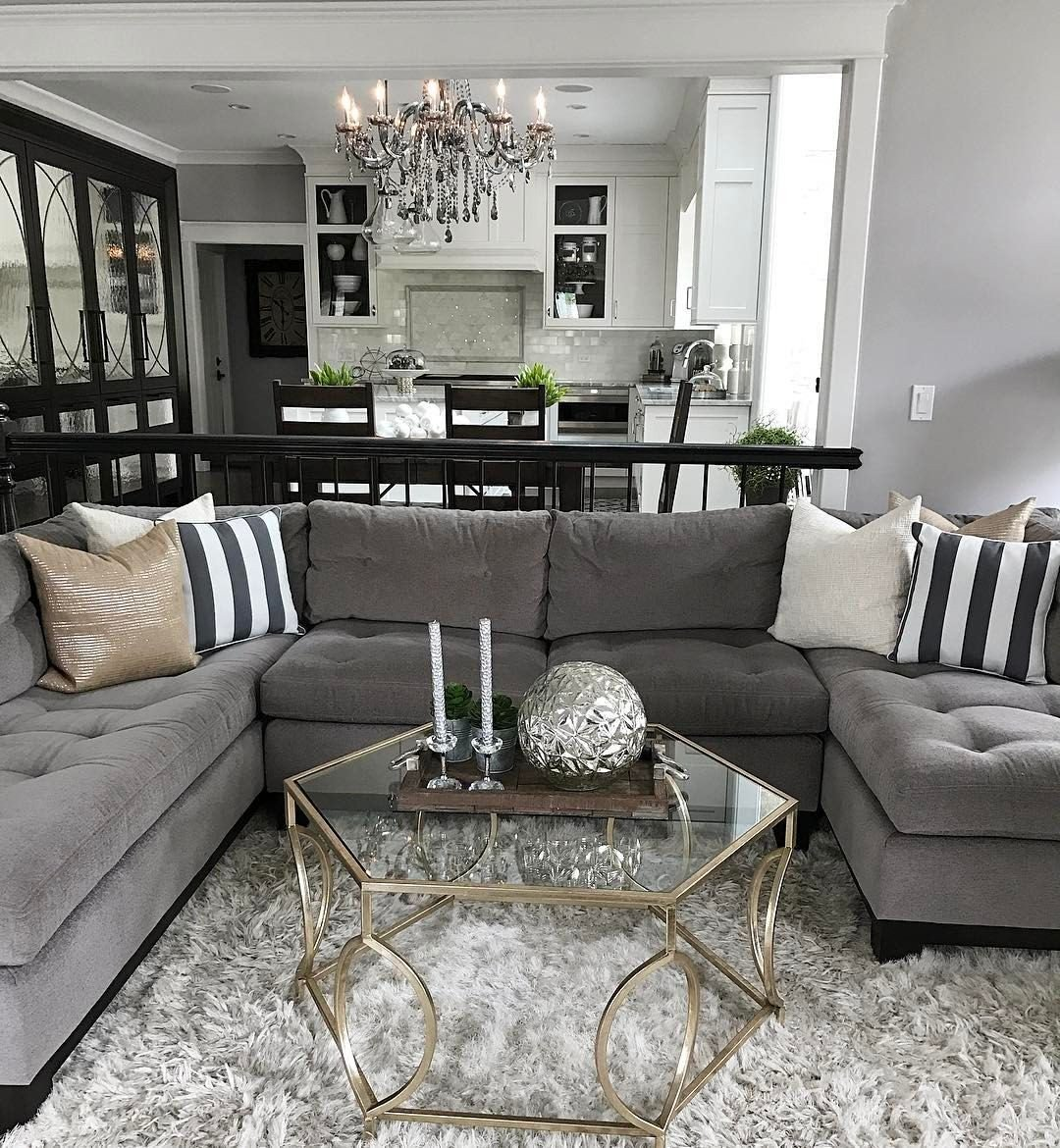 Gray sofa Living Room Decor Fresh Change Up the Gray Couch with and Chic Black and White Striped Accents