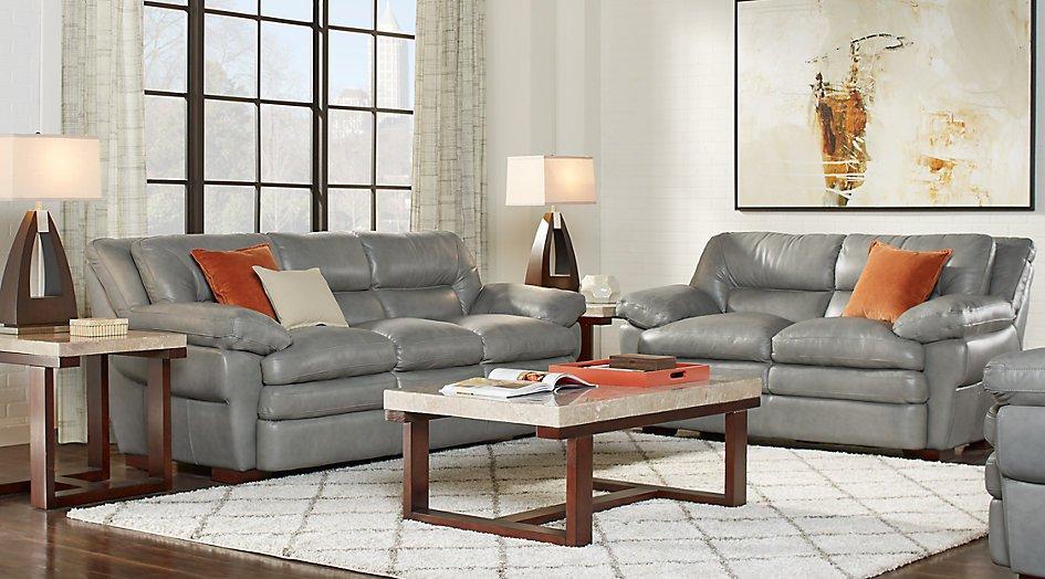 Gray sofa Living Room Decor Unique Aventino Gray Leather 3 Pc Living Room Leather Living Rooms Gray