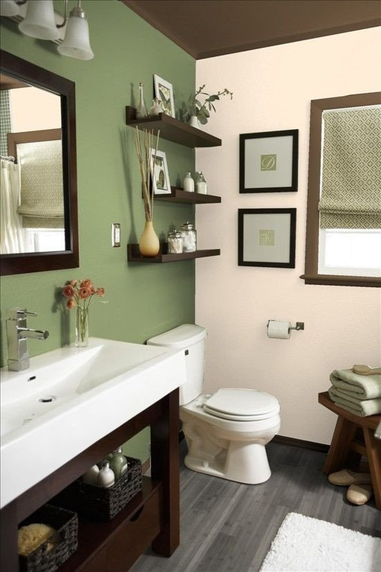 Green and Brown Bathroom Decor Inspirational Best 25 Bathroom Colors Ideas On Pinterest