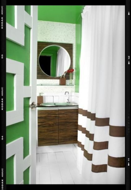 Green and Brown Bathroom Decor Inspirational Green Brown White Bathroom Panda S House