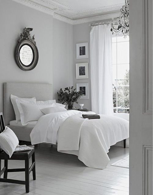 Grey and White Bedroom Decor Lovely Peaceful Grey White Bedroom