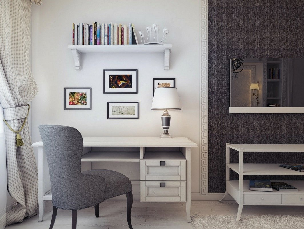 Grey and White Home Decor Luxury Workspace Inspiration