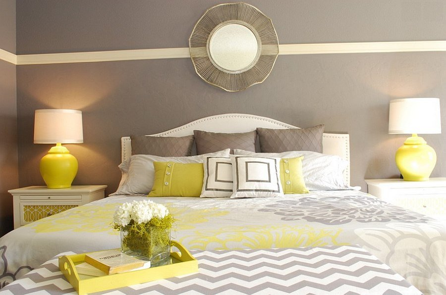Grey and Yellow Bedroom Decor Beautiful Cheerful sophistication 25 Elegant Gray and Yellow Bedrooms
