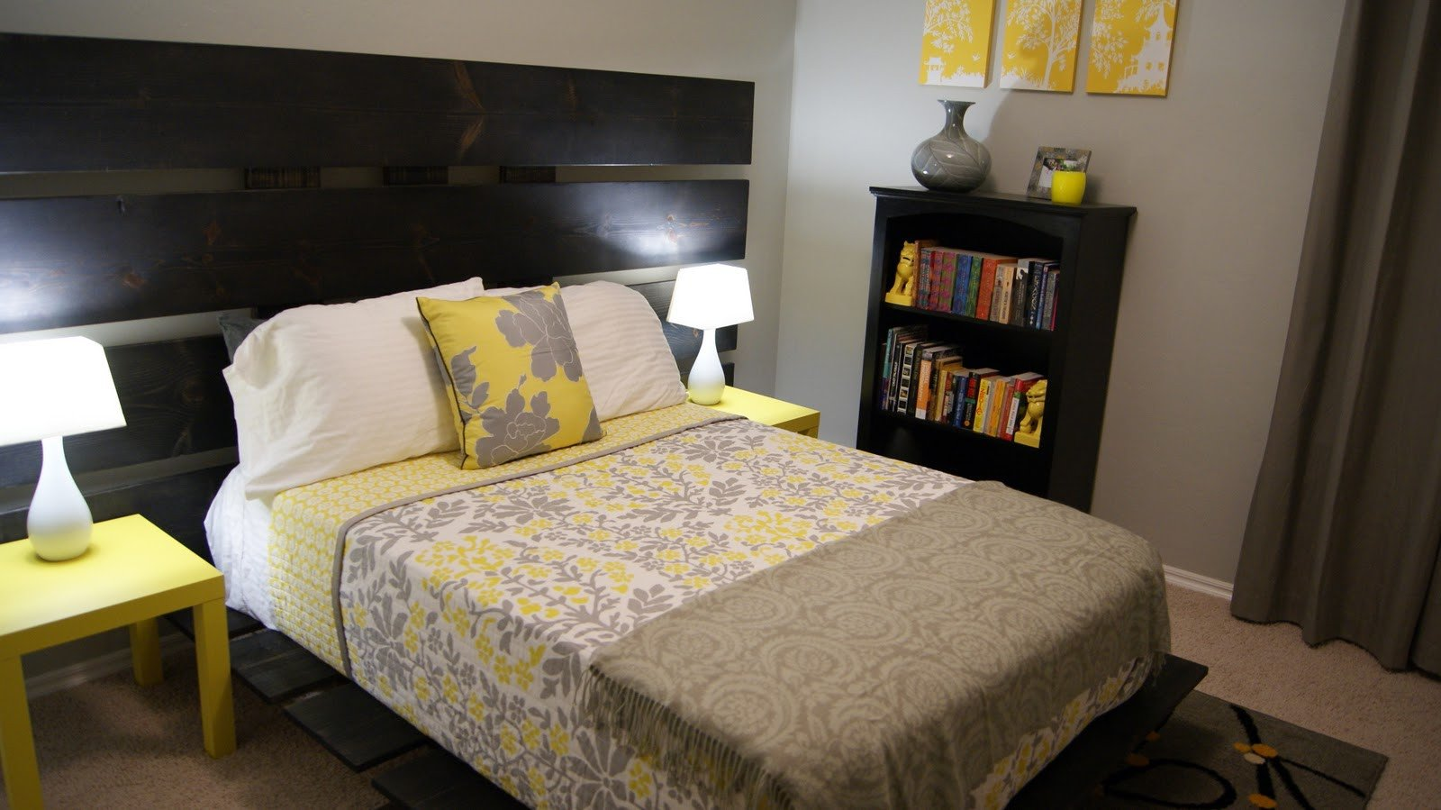 Grey and Yellow Bedroom Decor Beautiful Living Small Yellow and Gray Bedroom Update