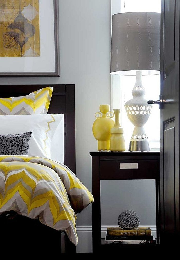 Grey and Yellow Bedroom Decor Elegant Cheerful sophistication 25 Elegant Gray and Yellow Bedrooms