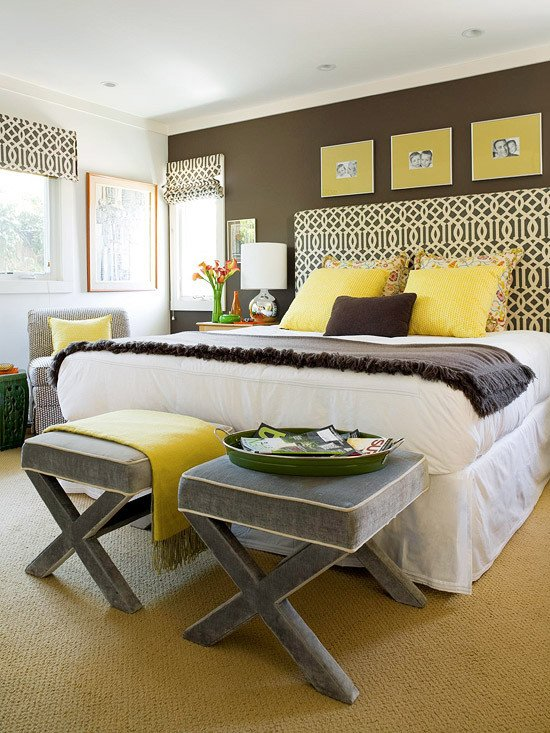 Grey and Yellow Bedroom Decor Lovely Yellow and Gray Bedroom Contemporary Bedroom Bhg