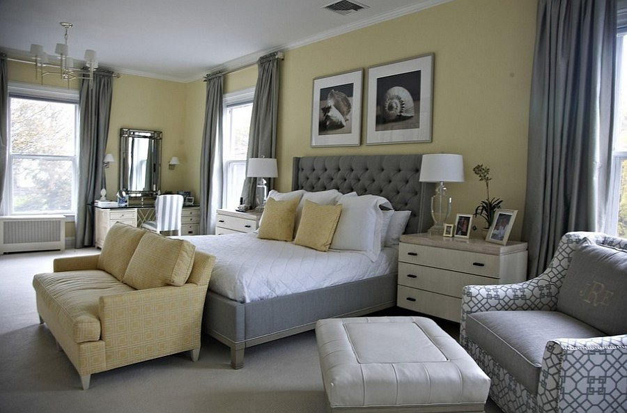 Grey and Yellow Bedroom Decor Unique Cheerful sophistication 25 Elegant Gray and Yellow Bedrooms