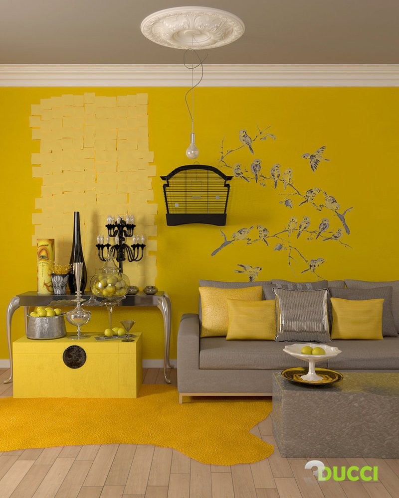 Grey and Yellow Decor Ideas Unique Yellow Room Interior Inspiration 55 Rooms for Your Viewing Pleasure