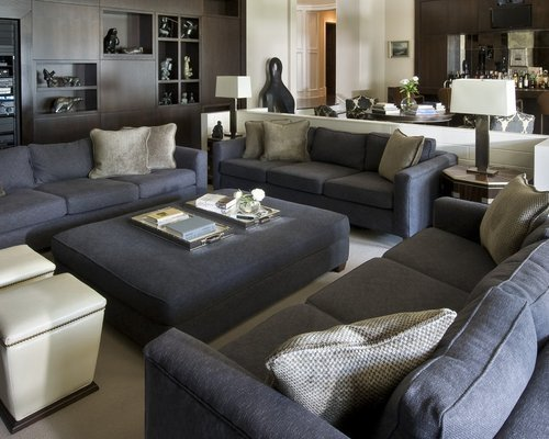 Grey sofa Living Room Decor Elegant Dark Gray sofa