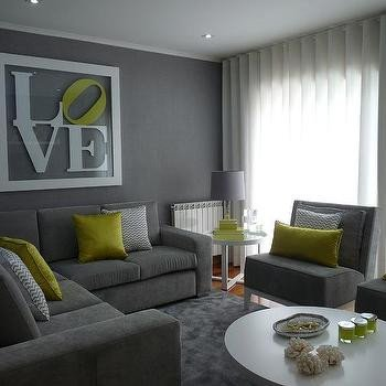 Grey sofa Living Room Decor Elegant Grey sofa Design Ideas