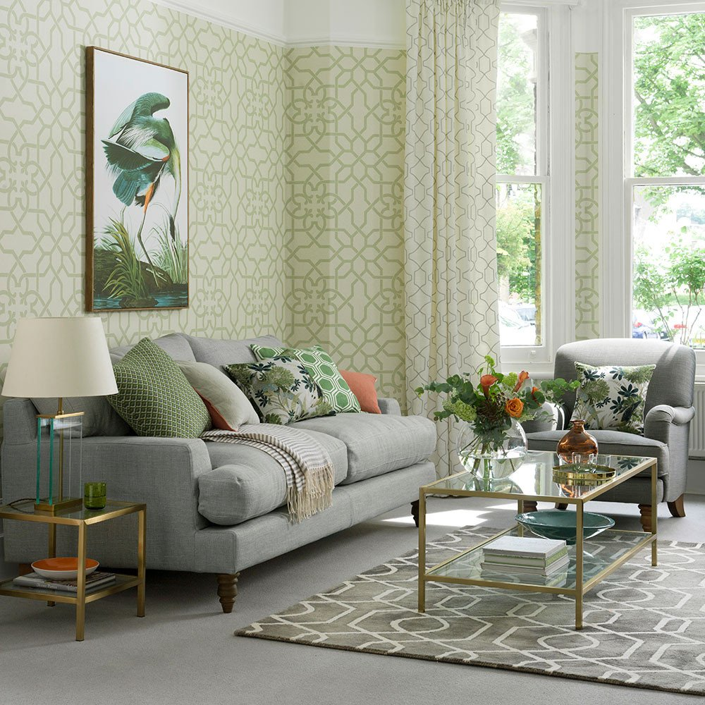 Grey sofa Living Room Decor Fresh Green Living Room Ideas for soothing sophisticated Spaces