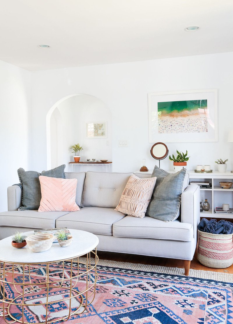 Grey sofa Living Room Decor Inspirational A Bohemian California Home with International Decor