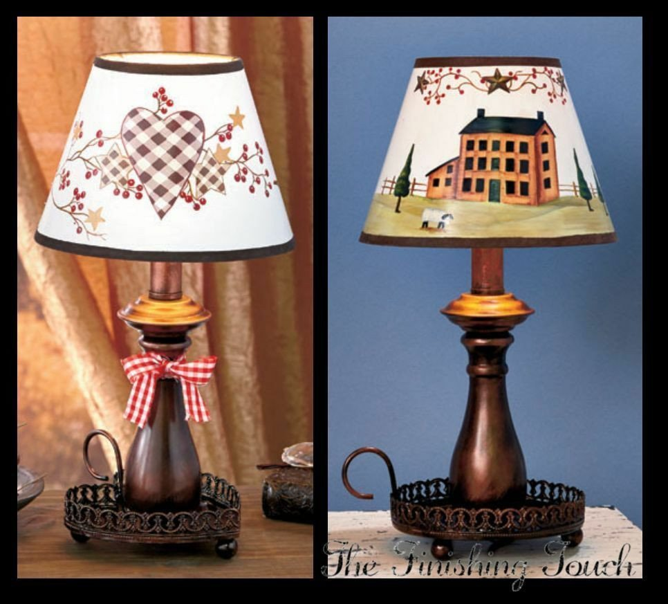 Heart and Star Kitchen Decor Awesome Hearts and Stars or House Country Decor Table Lamp Bathroom Kitchen Bedroom