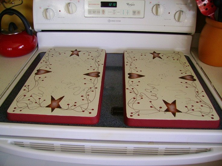 Heart and Star Kitchen Decor Beautiful Primitive Country Rusty Tin Stars Hearts Stove Burner Covers Deelunn Pinterest