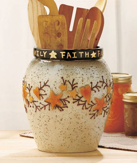 Heart and Star Kitchen Decor Fresh Country Country Heart & Star Crock Primitive Bathroom Dining Kitchen Home Decor