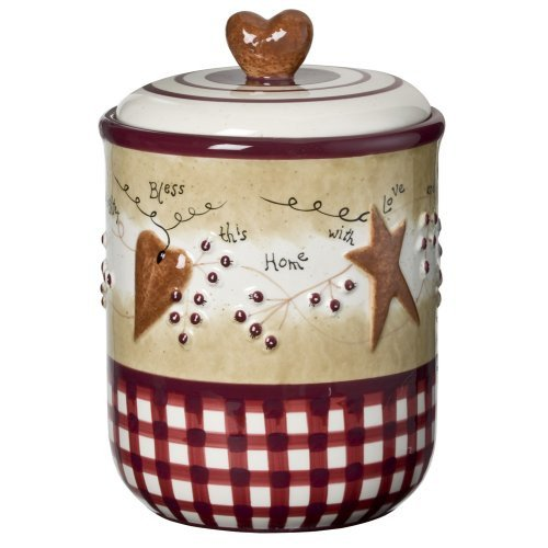 Heart and Star Kitchen Decor Fresh Home Decor Accents Hearts and Stars Canister Medium