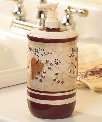 Heart and Star Kitchen Decor Lovely Country Hearts & Stars Kitchen Canisters Spice Shaker Utensil Holder Rug towels