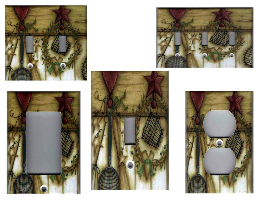 Heart and Star Kitchen Decor Luxury Country Kitchen Barn Star with Heart Home Decor Light Switch Plates and Outlets
