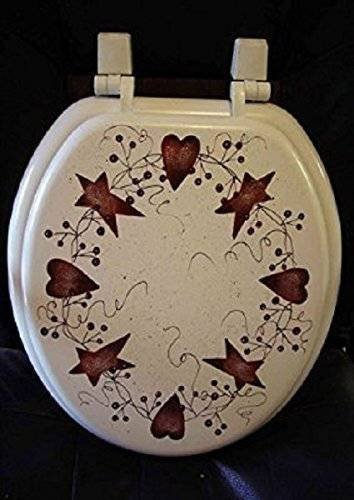 Heart and Star Kitchen Decor Unique Amazon Primitive Country Decor Hand Painted Hand Painted Rusty Tin Stars Hearts Round