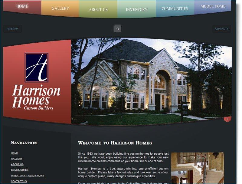 High End Home Decor Websites Elegant Construction Website Design for Harrison Homes Your Web Guys