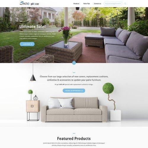 High End Home Decor Websites Elegant High End Patio Furniture Website Redesign