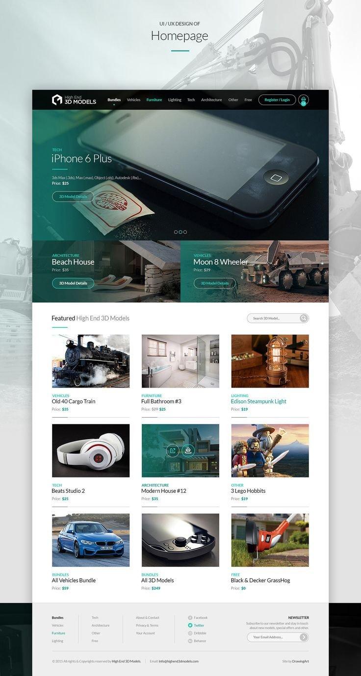 High End Home Decor Websites Luxury High End 3d Models On Behance Ui Pinterest