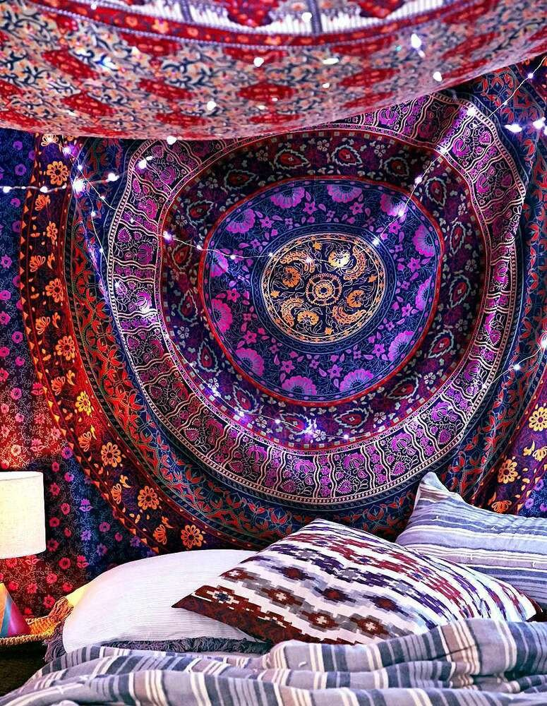 Hippie Bedding and Room Decor Unique Hippie Indian Mandala Tapestry Psychedelic Tapestries Boho Bedding Wal Decor Art
