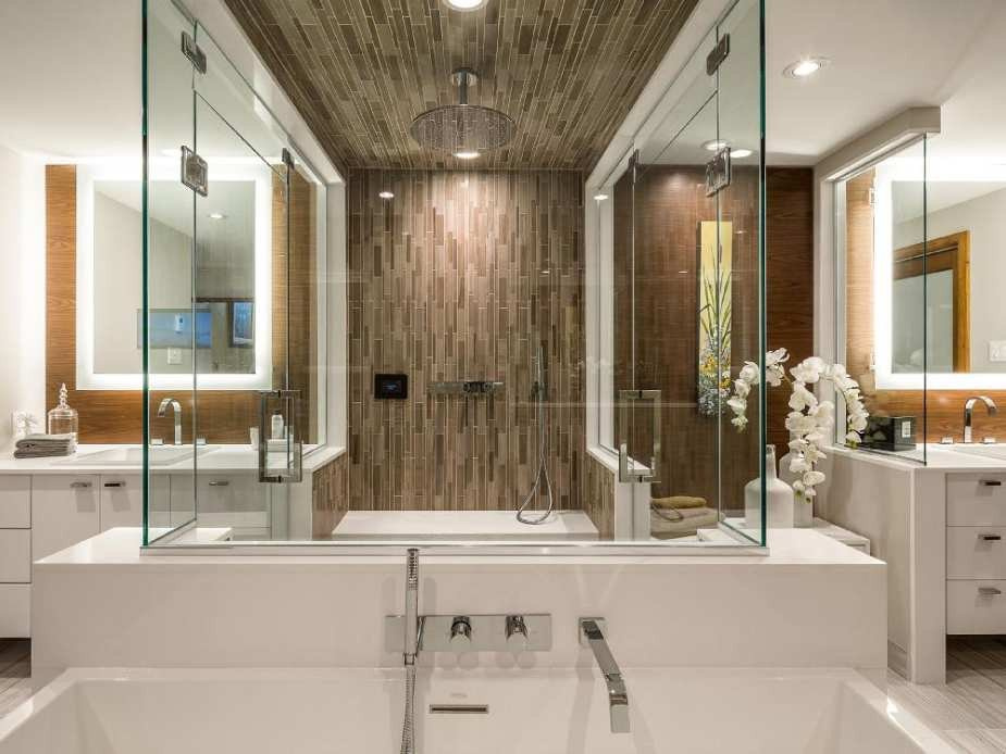 His and Her Bathroom Decor Lovely Contemporary Still Reigns but the Look is More Classic at Nkba Awards
