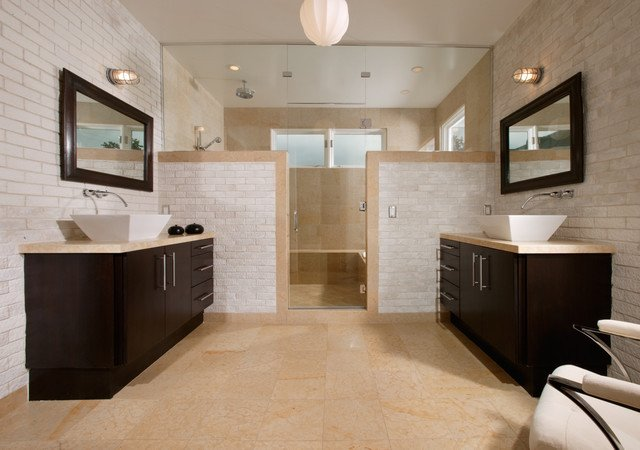 His and Her Bathroom Decor Luxury His and Hers Bath Contemporary Bathroom New orleans by Kenneth Brown Design