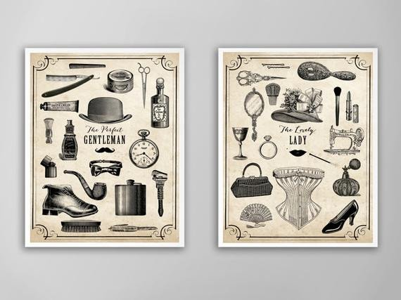 His and Hers Bathroom Decor Luxury His and Hers Art Print Set Valentines Day Gift Bathroom