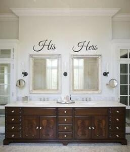 His and Hers Bathroom Decor New His and Hers Vinyl Wall Decal Sticker Bathroom Decoration Wedding Decor Cute
